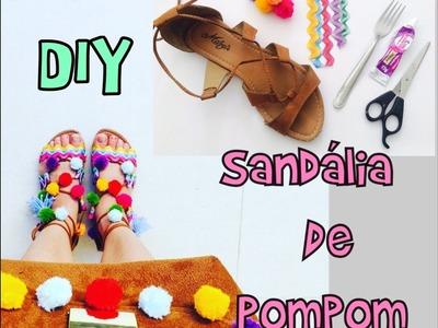 DIY - Sandália de pompom e Bolsa de pompom - faça você mesmo - Mika Cavalini
