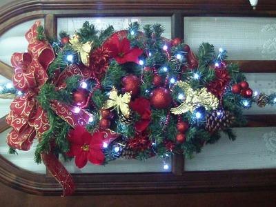 Guirlanda de Natal: Galhinho do Papai Noel  Má Patchwork