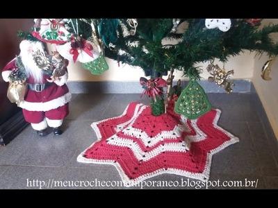 Tapete Saia para Árvore de Natal   Modelo Estrela, parte 1