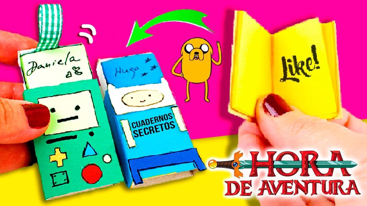 CADERNOS SECRETOS da HORA DE AVENTURAS * DIY Cadernos Secretos em MINIATURA