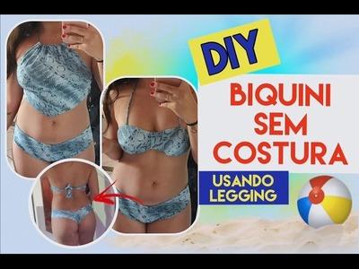 DIY BIQUÍNI USANDO LEGGING (BOJO, CROPPED E CALCINHA RIPPLE) - POR THAYSE REIS