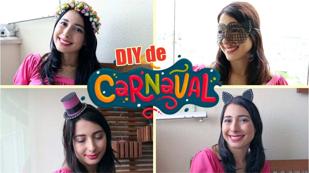 DIY de carnaval: headband, máscara e 2 tiaras para cair na folia e arrasar | por Mari Dahrug