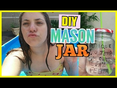DIY MASON JAR. JARA COPO TUMBLR ❤????