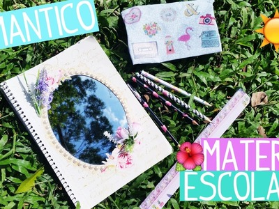DIY: MATERIAL ESCOLAR ROMANTICO | CADERNO COM ESPELHO