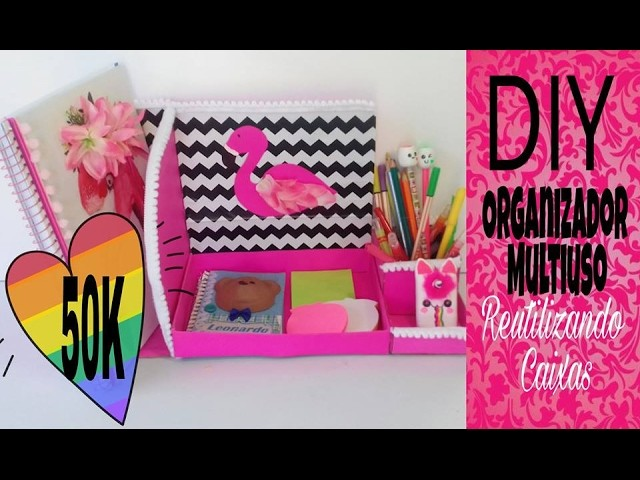 DIY. Organizador multiuso para  decorar seu Home Office ???? gastando pouco