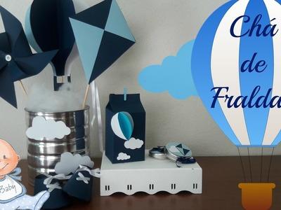 PREPARATIVOS CHÁ DE FRALDAS - DIY - ITENS DE DECORAÇÃO #TAISATODODIA #10 - Taisa Alves