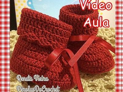 Botinha em Crochet