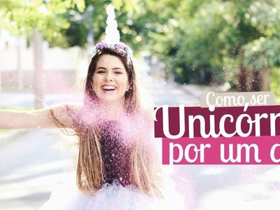 DIY: Fantasia de unicórnio para o carnaval | Mylena Matos