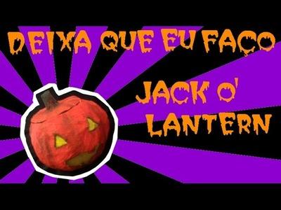 DIY Jack O' Lantern (abobora de Halloween) sem Abóbora - Deixa que eu faço