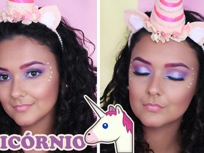 DIY TIARA de UNICÓRNIO e MAQUIAGEM UNICÓRNIO | Unicorn Makeup