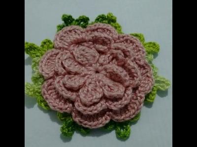 Flor de crochê para aplicação.