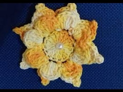 Passo a Passo da Flor em Crochê   Jogo de Banheiro Harmonia