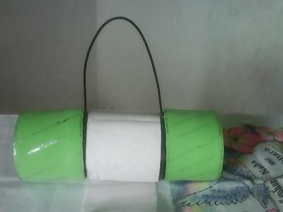 Porta papel higiênico de garrafa pet e eva.door toilet paper bottle