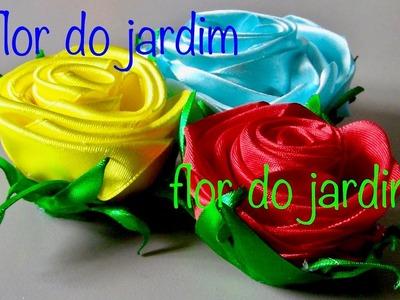 Rosa de fitasde cetim - How to make satin ribbon roses