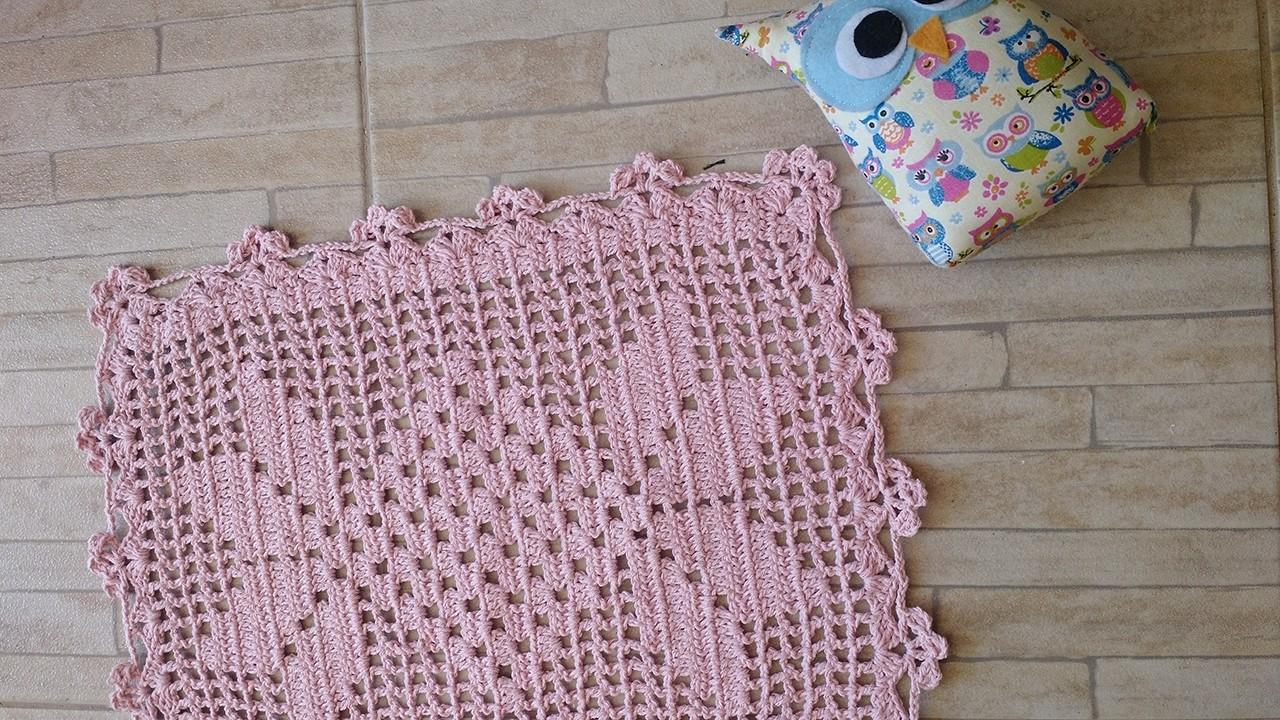 Toalhinha tapete caminho de mesa de crochet 1 2 3 for Tapete mesa