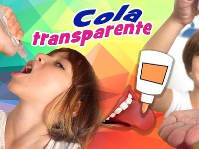 Cola Transparente Comestivel com Sarinha (Material Escolar, Trollagem, DIY, Como Fazer)