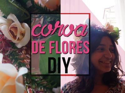 Como fazer uma coroa de flores | DIY | #diariodecasamento02