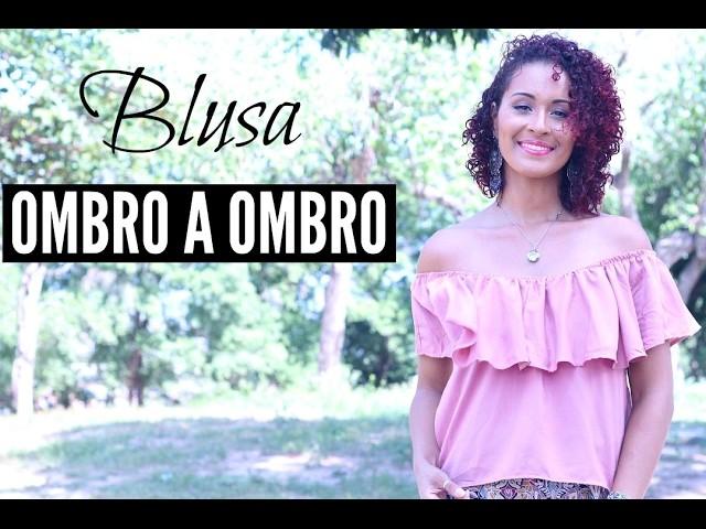 DIY- BLUSA OMBRO A OMBRO FÁCIL | DAYSE COSTA