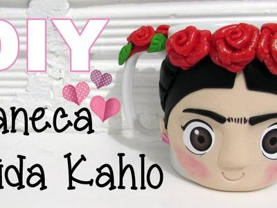 (DIY) Caneca Frida Kahlo (Frida Kahlo Mug)