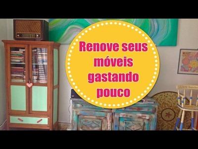 DIY | Como renovar seus móveis, gastando super pouco! - Cristaleira antiga