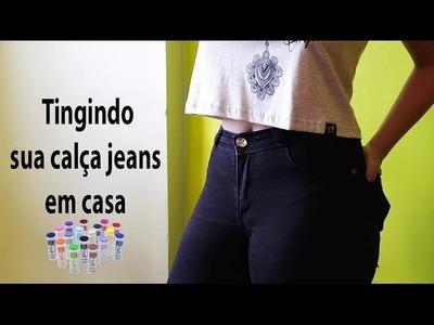 DIY:: Como tingir sua calça jeans  em casa