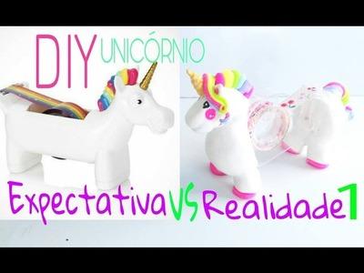 DIY Expectativa vs Realidade - ????Suporte fita UNICÓRNIO.Diy unicorn tape dispenser