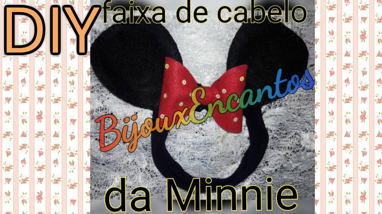 DIY Faixa de cabelo Minnie Mouse em feltro para bebês