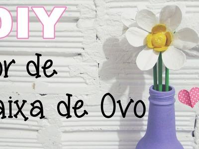 (DIY) Flor de Caixa de Ovo #1 (Egg carton flower)
