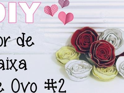 (DIY) Flor de Caixa de Ovo #2 (Egg Carton Flower)