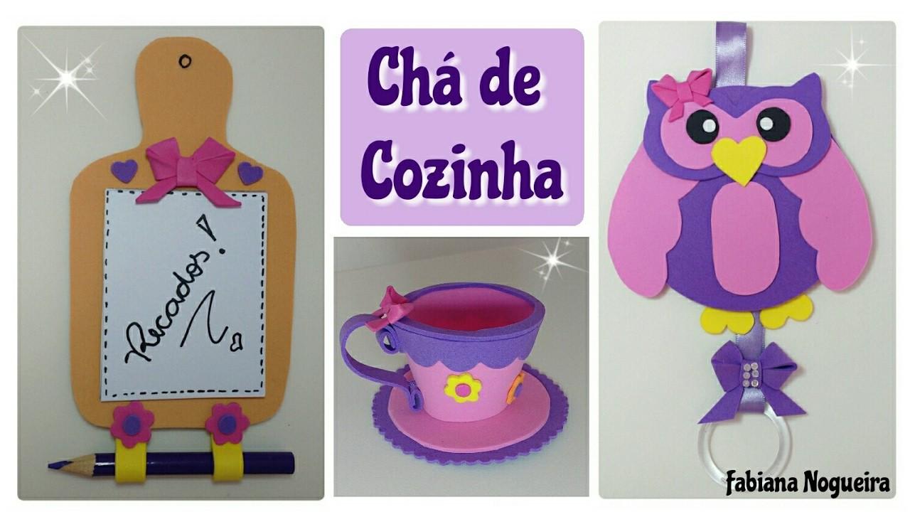 Diy - Lembrancinhas Chá de Cozinha. Chá de Panelas - 3 Idéias Fáceis  ????????☕