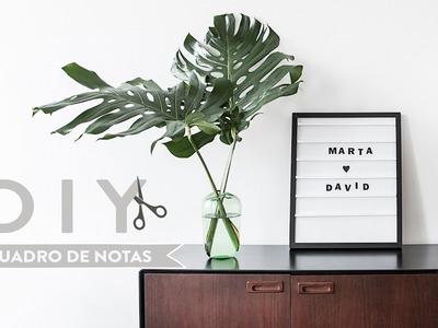 DIY: Quadro de notas | WESTWING