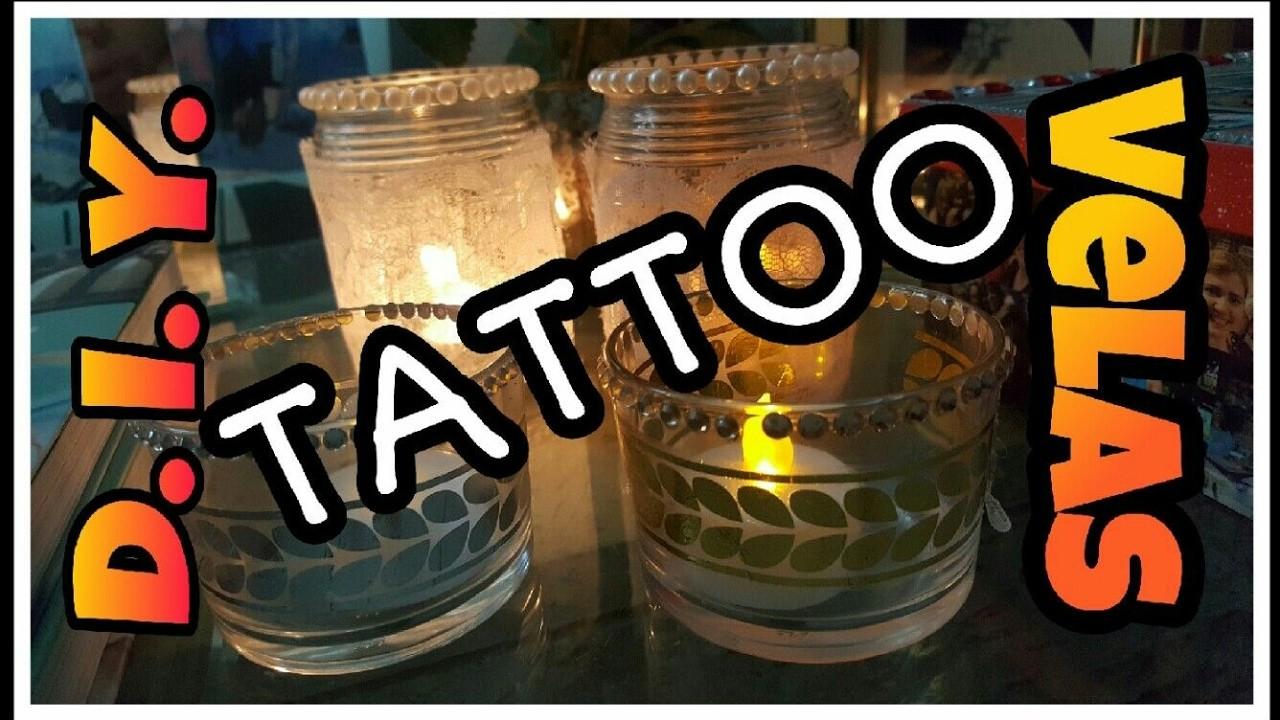 PORTA VELAS de TATTOO D. I. Y. - #mesaposta #3 Tattoo candle holder