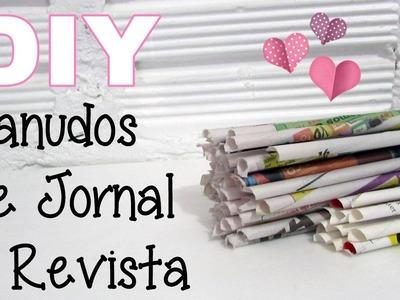 (DIY) Canudo de Jornal e de Revista (Reciclando Jornal)