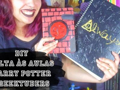 DIY - Volta às Aulas #Geektubers - Agenda 9 3.4 e Caderno Relíquias da Morte | Suelen Candeu