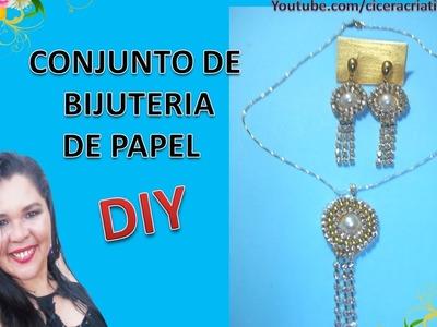 Como fazer brincos de papel - How to Make Paper Earrings - Especial 4.000 inscritos.
