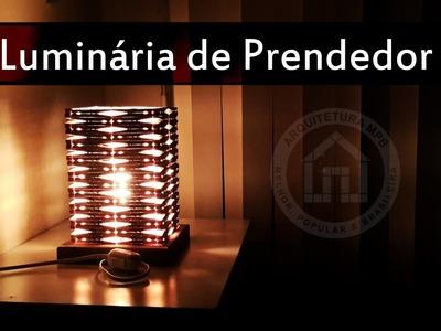 Como Fazer Luminária de Prendedor