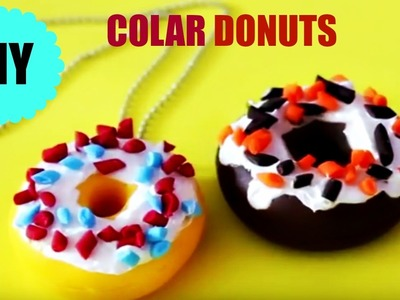 DIY - COLAR DONUTS - TUTORIAL PASSO A PASSO - POLYMER CLAY - BISCUIT