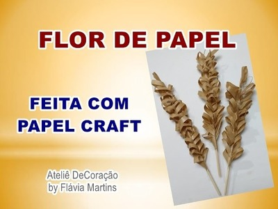DIY - Flor de papel craft para decorar garrafas