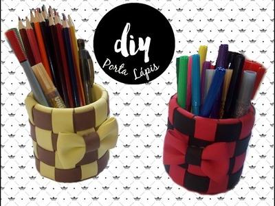 Diy - Porta Lápis de EVA e Rolo de Papel