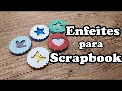 Enfeites Scrapbook DIY | Círculos em camadas com furadores e retalhos