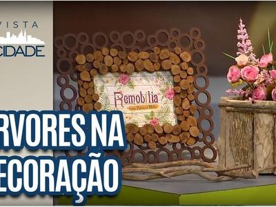 Reutilização de Troncos de Árvores: Decoração  - Revista da Cidade (27.01.17)