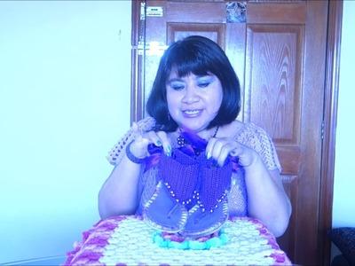 Sandalias Violeta tejidas a crochet paso a paso.