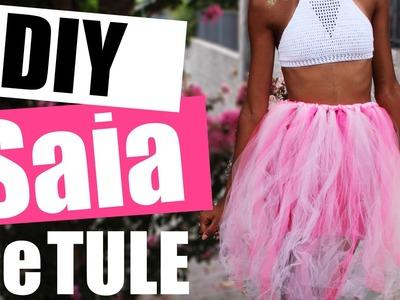 Como Fazer Saia de Tule Rosa - DIY (Faça você mesmo) - Carnaval 2017 | Soeiros