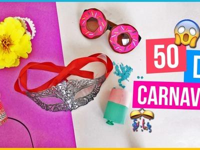 DIY 50 IDEIAS PARA O CARNAVAL | Óculos Donuts, HeadBand de flor, Tiara de Coroa Fácil e mais