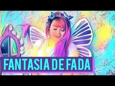 DIY 50 IDEIAS PARA O CARNAVAL | FANTASIA COMPLETA DE FADA | ASAS, COROA, SAIA, COLAR E BRINCO