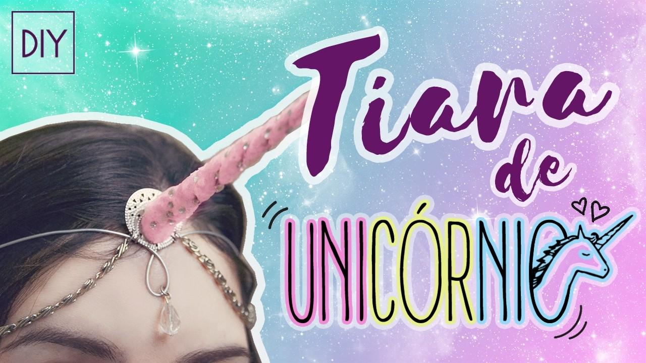 DIY de CARNAVAL.HALLOWEEN: Tiara Chifre de UNICÓRNIO (Unicorn Headpiece)   Dan Pugno