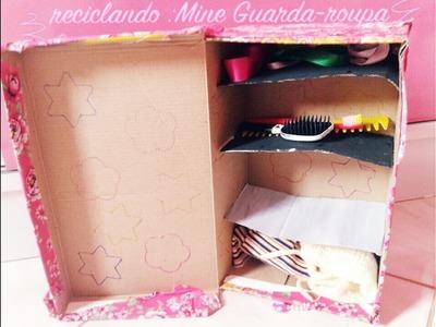 DIY : mine guarda roupa para pet reciclável | Vanna_ Silva2