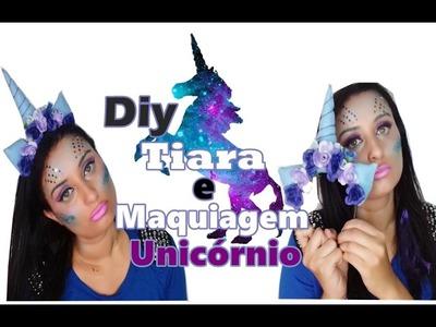 Diy Tiara de Unicórnio + Maquiagem de Unicórnio para o Carnaval