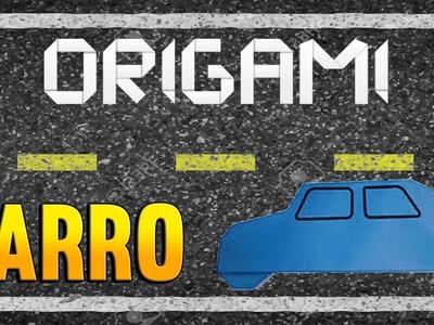 Como fazer uma CARRO de Origami - Passo a Passo - Paper Folding CAR