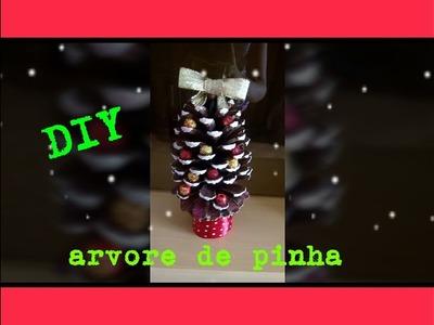 DIY: ARVORE DE PINHA.ESPECIAL DE NATAL